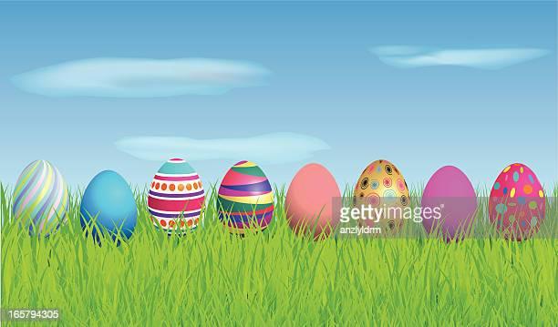easter eggs - arrowwood stock illustrations, clip art, cartoons, & icons