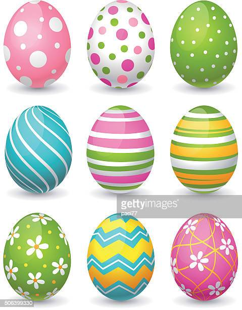 easter eggs - easter stock illustrations, clip art, cartoons, & icons