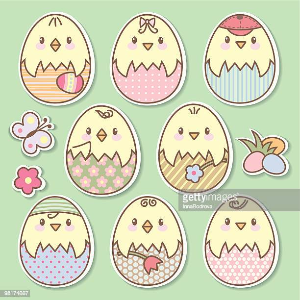 easter eggs - holy week stock illustrations, clip art, cartoons, & icons