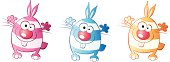 Easter funny rabbit