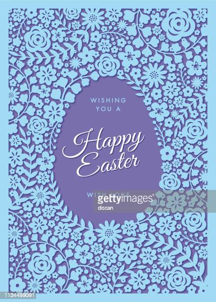 easter greeting card - illustration - easter sunday stock illustrations