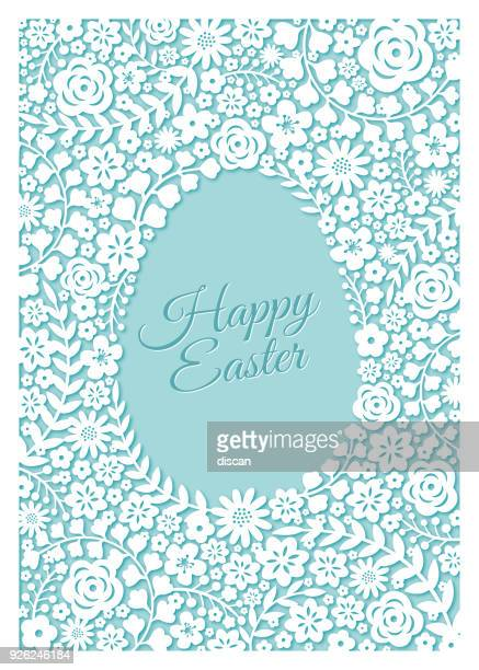 easter greeting card - illustration - easter stock illustrations, clip art, cartoons, & icons