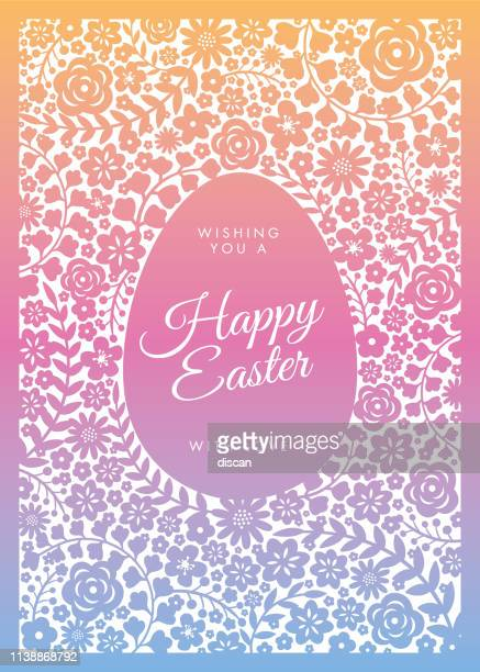 easter greeting card - easter sunday stock illustrations