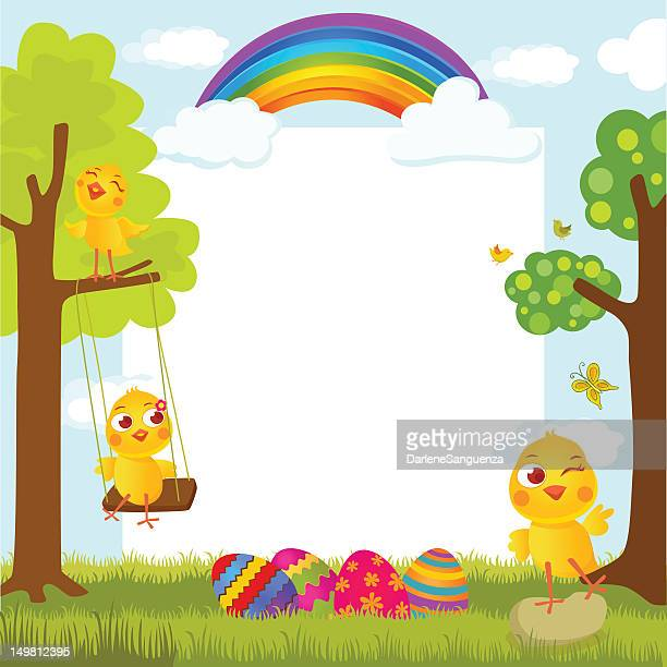 easter greeting card - duck stock illustrations, clip art, cartoons, & icons