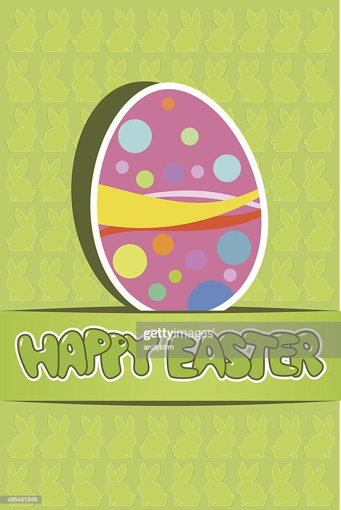 Easter Greeting Card : Vector Art