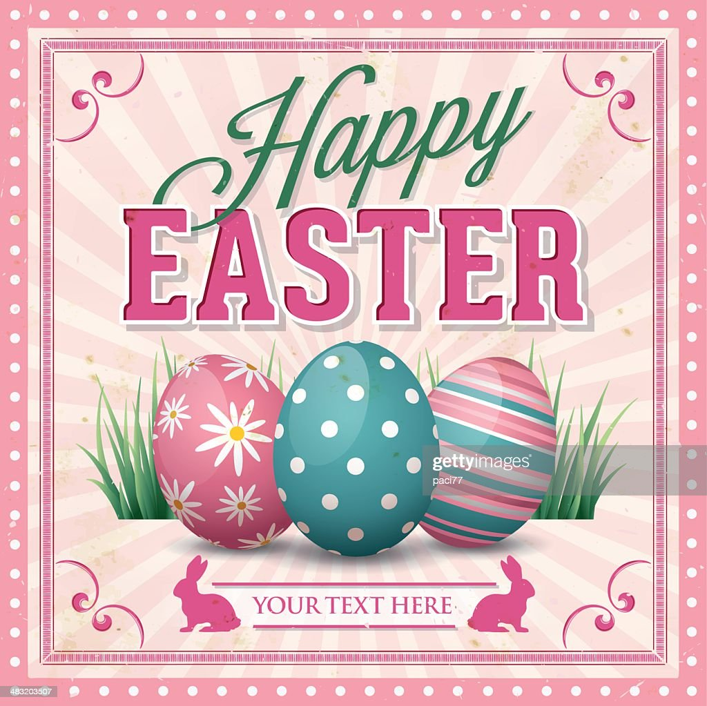 Easter Greeting Card : Vector Art