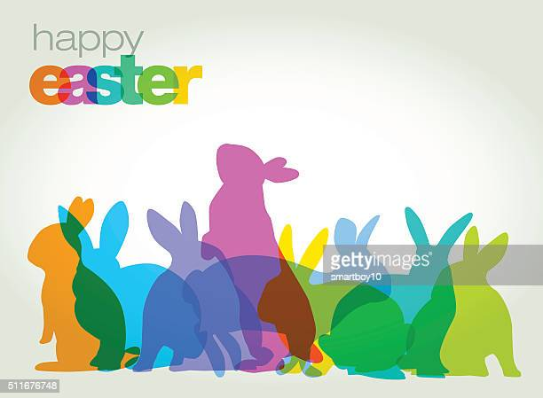 easter greeting card - easter bunny stock illustrations
