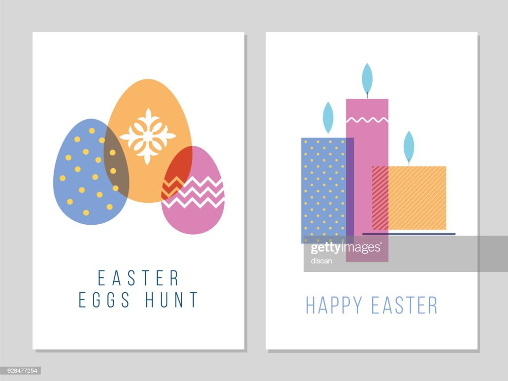 Easter Greeting Card Vector Art Getty Images