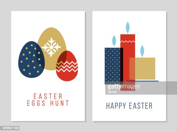 easter greeting card. - easter sunday stock illustrations