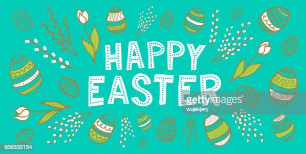 easter greetings card - easter stock illustrations