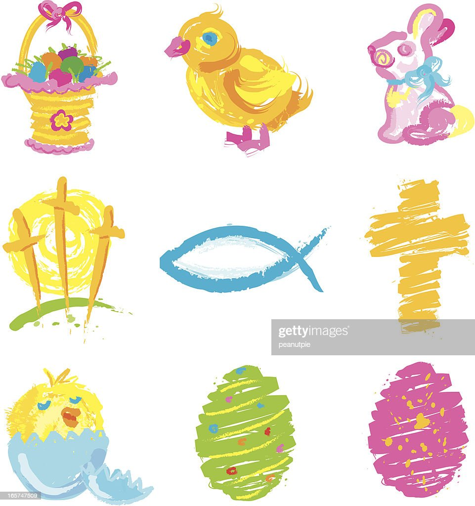 Easter Grunge icons