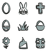 Easter Icons Freehand 2 Color