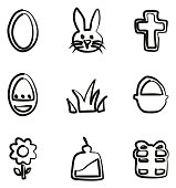Easter Icons Freehand