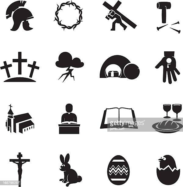 easter icons - jesus stock illustrations, clip art, cartoons, & icons