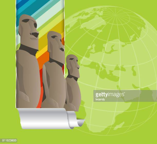 easter island - easter island stock illustrations, clip art, cartoons, & icons