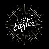 Easter lettering starburst