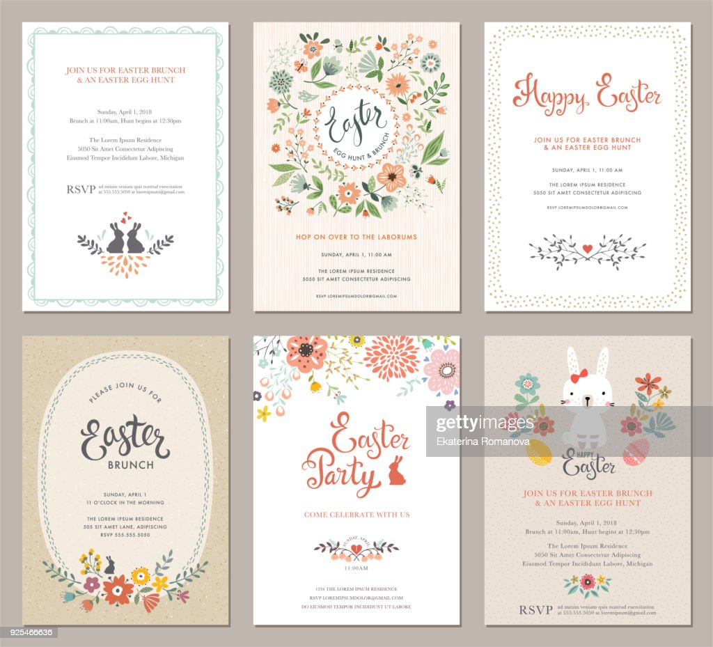 Easter Party Cards Set_02