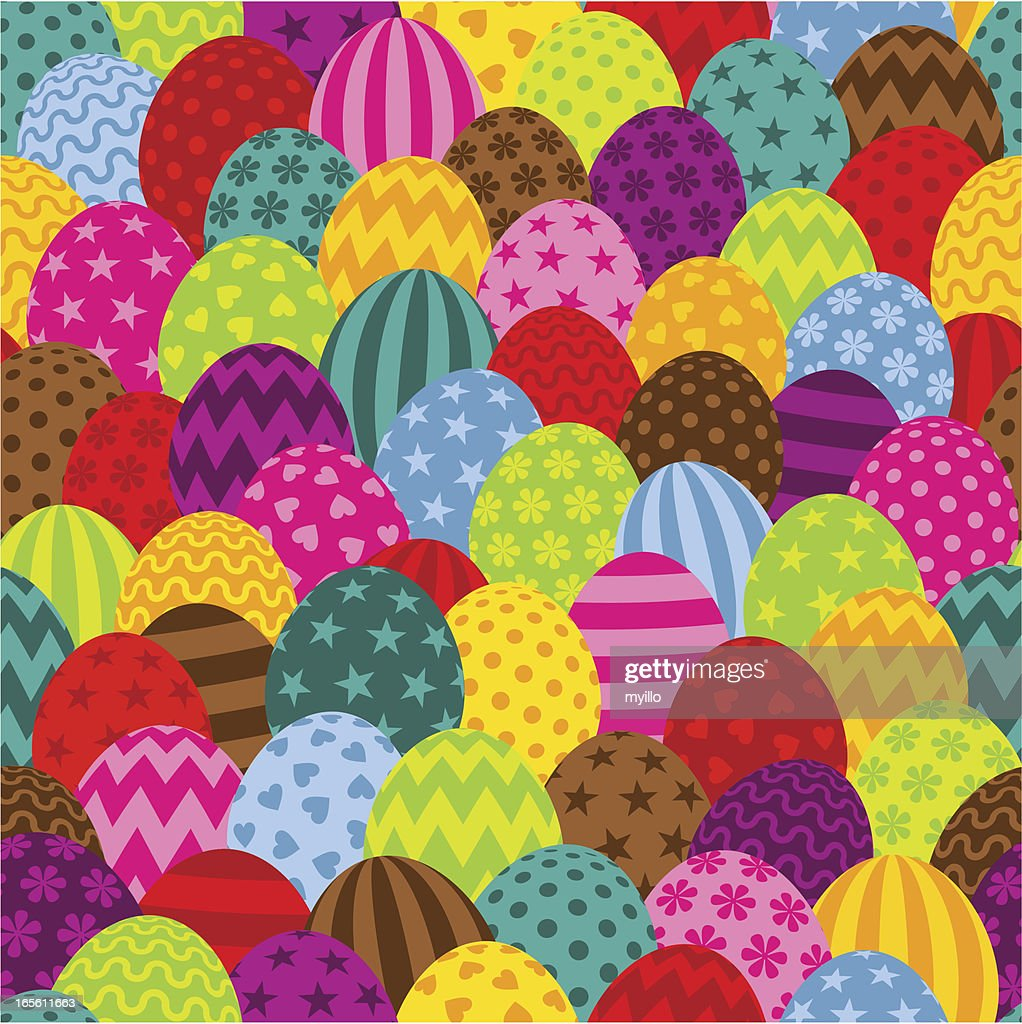 Easter pattern : Vector Art