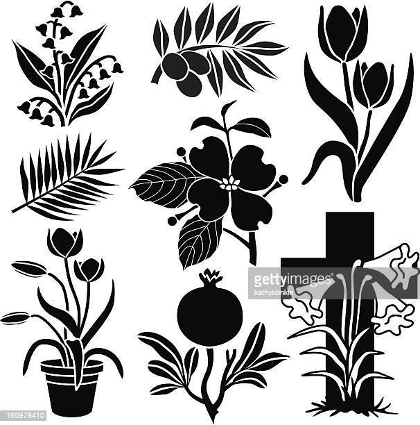 復活祭の植物と花
