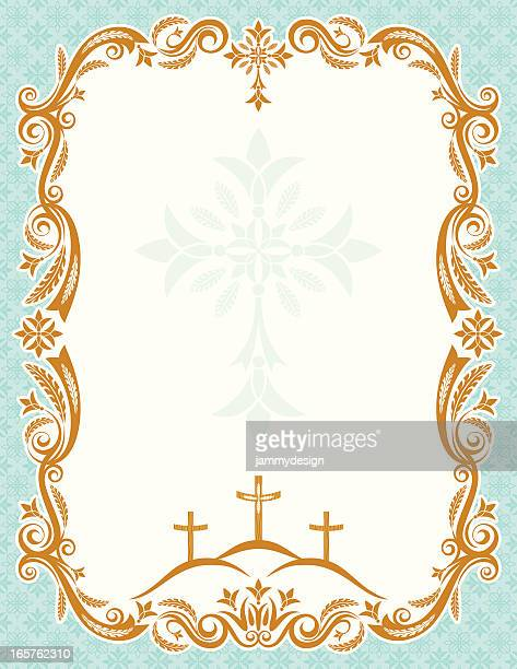 easter poster - good friday stock illustrations