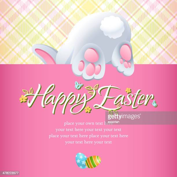 easter rabbit hiding notice - easter bunny stock illustrations