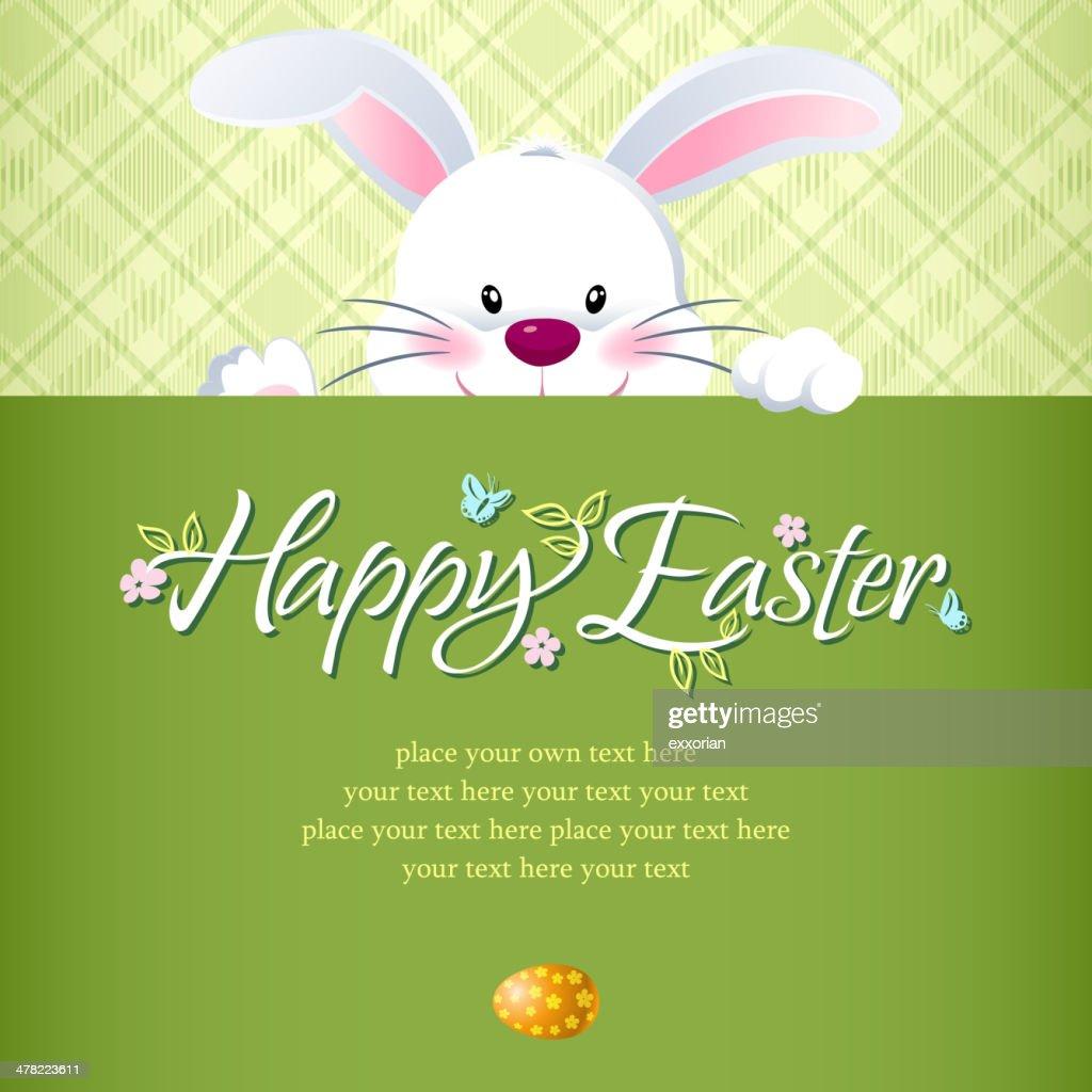 Easter Rabbit Hiding Notice : stock illustration
