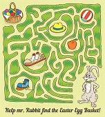 Easter Rabbit Maze Game