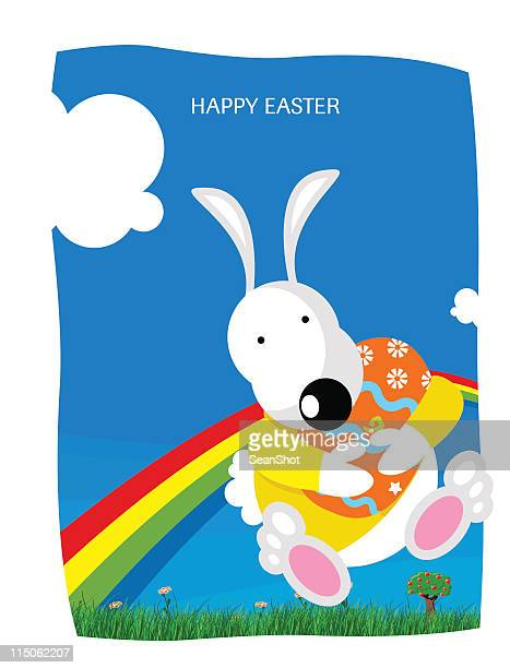 easter rabbit - easter bunny costume stock illustrations, clip art, cartoons, & icons
