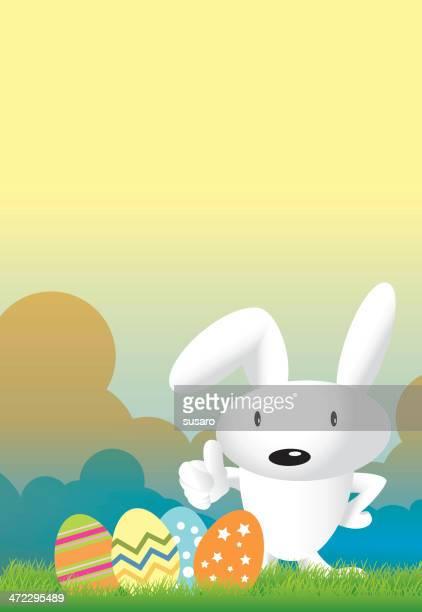 easter rabbit - easter egg hunt stock illustrations, clip art, cartoons, & icons