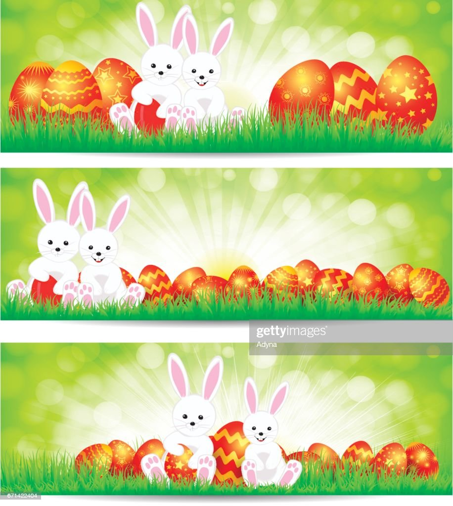 Easter Rabbit : Vector Art