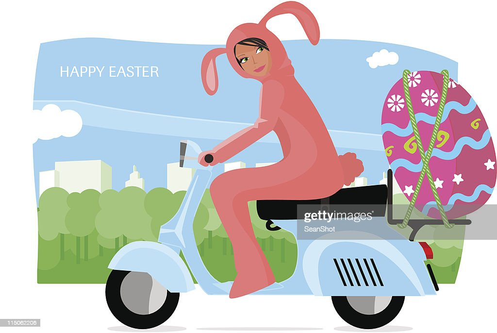 Easter Rabbit Vespa