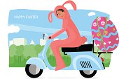 Easter Rabbit Vespa