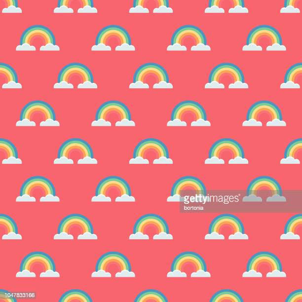 easter rainbow seamless pattern - easter sunday stock illustrations