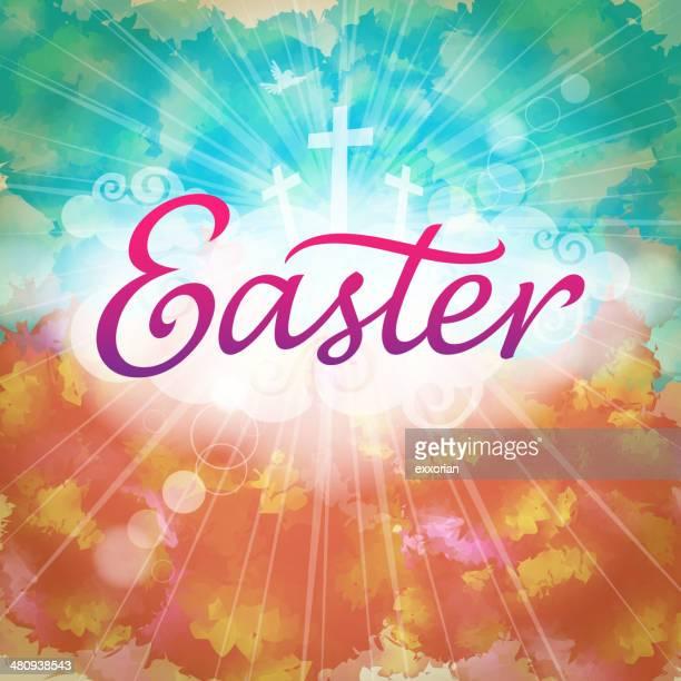 illustrazioni stock, clip art, cartoni animati e icone di tendenza di pasqua resurrezione - colomba pasqua
