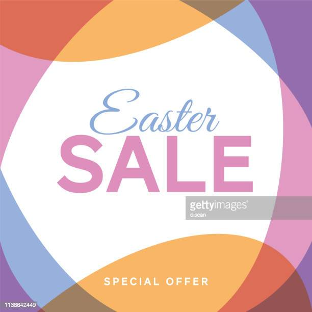 easter sale background with eggs frame. - easter sunday stock illustrations