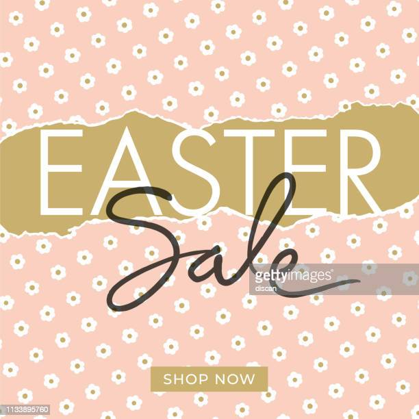 easter sale design for advertising, banners, leaflets and flyers - easter sunday stock illustrations