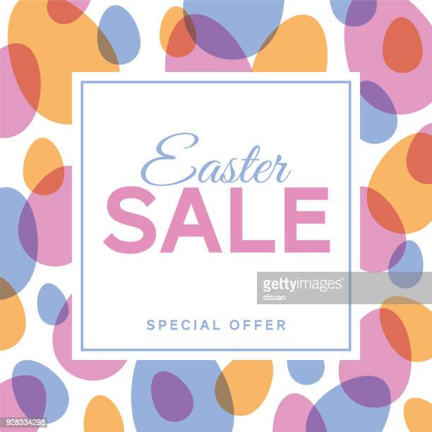 easter sale design for advertising, banners, leaflets and flyers - easter stock illustrations