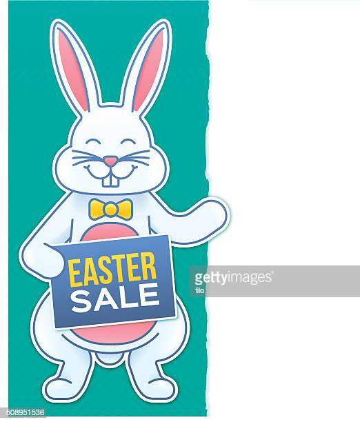 easter sale - easter bunny costume stock illustrations, clip art, cartoons, & icons