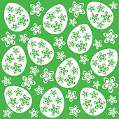 Easter seamless background green