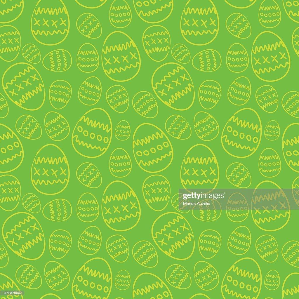 Easter seamless pattern : Vector Art