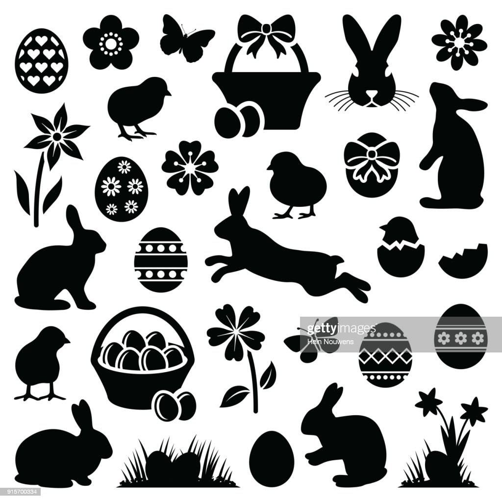 Easter silhouette