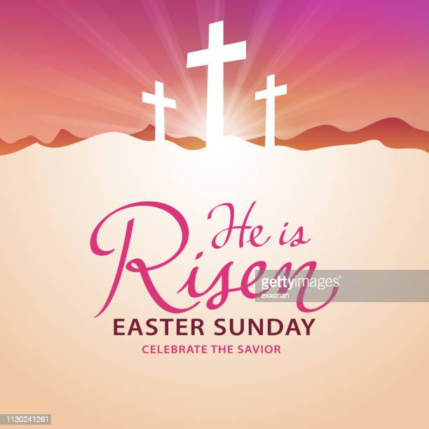 easter sunday - easter stock illustrations