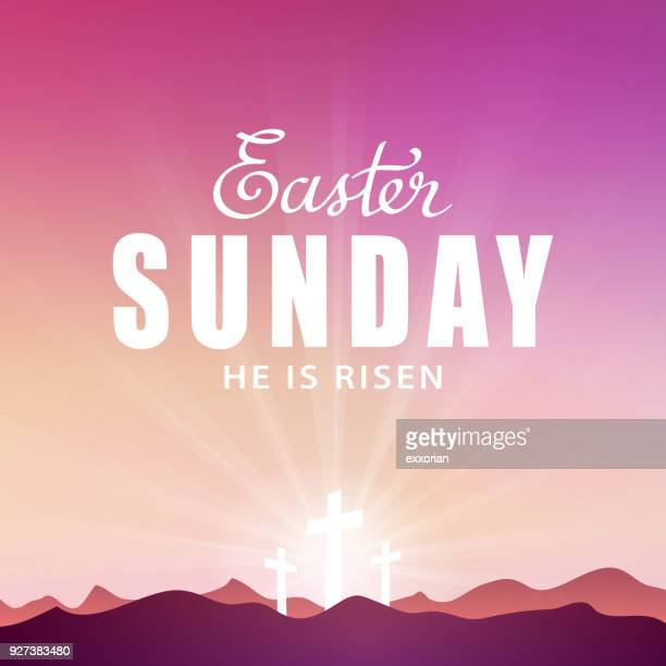 easter sunday - easter religious stock illustrations