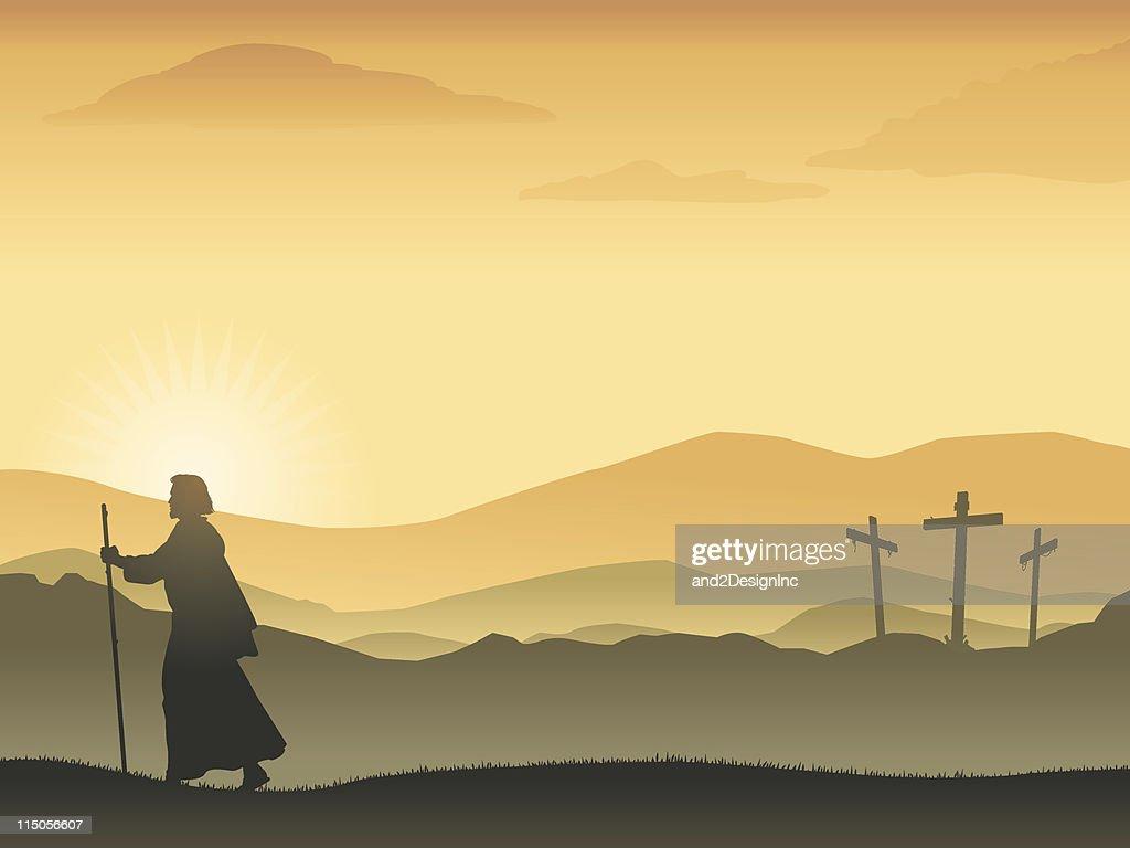 Easter Sunrise : stock illustration