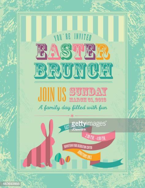easter themed invitation design template - easter egg hunt stock illustrations, clip art, cartoons, & icons