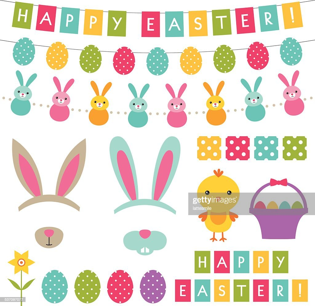 Easter vector decorationset