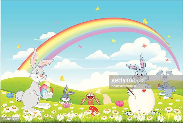 easter - easter bunny stock illustrations