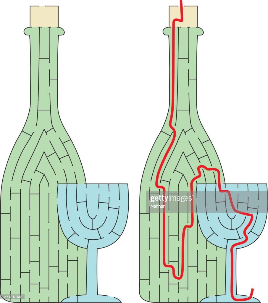 Easy bottle maze