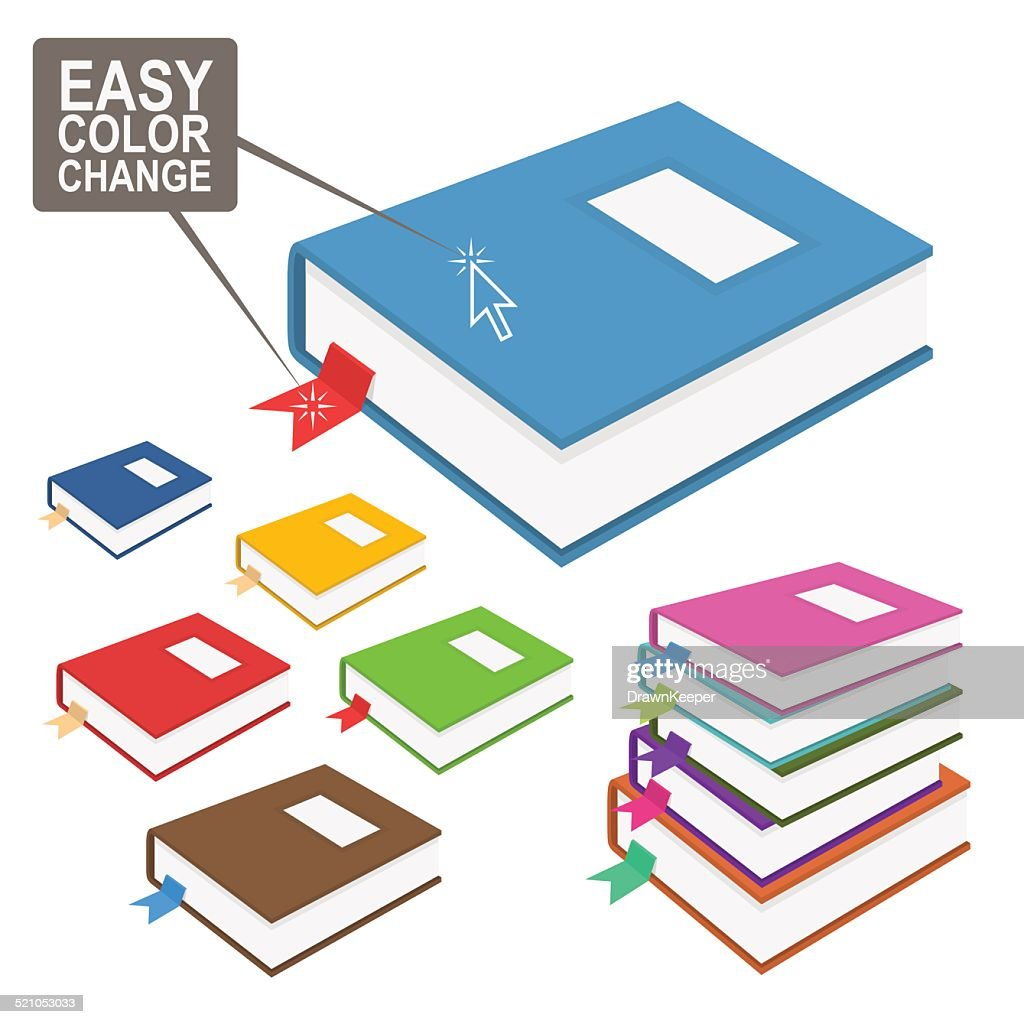 Easy change color book icon.