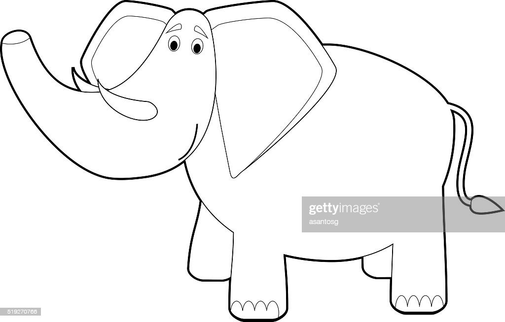 Easy Coloring Animals for Kids: Elephant